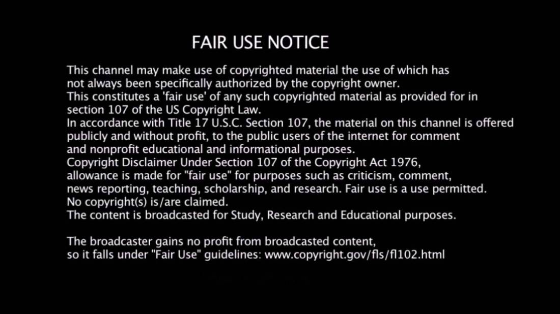 fair use notice