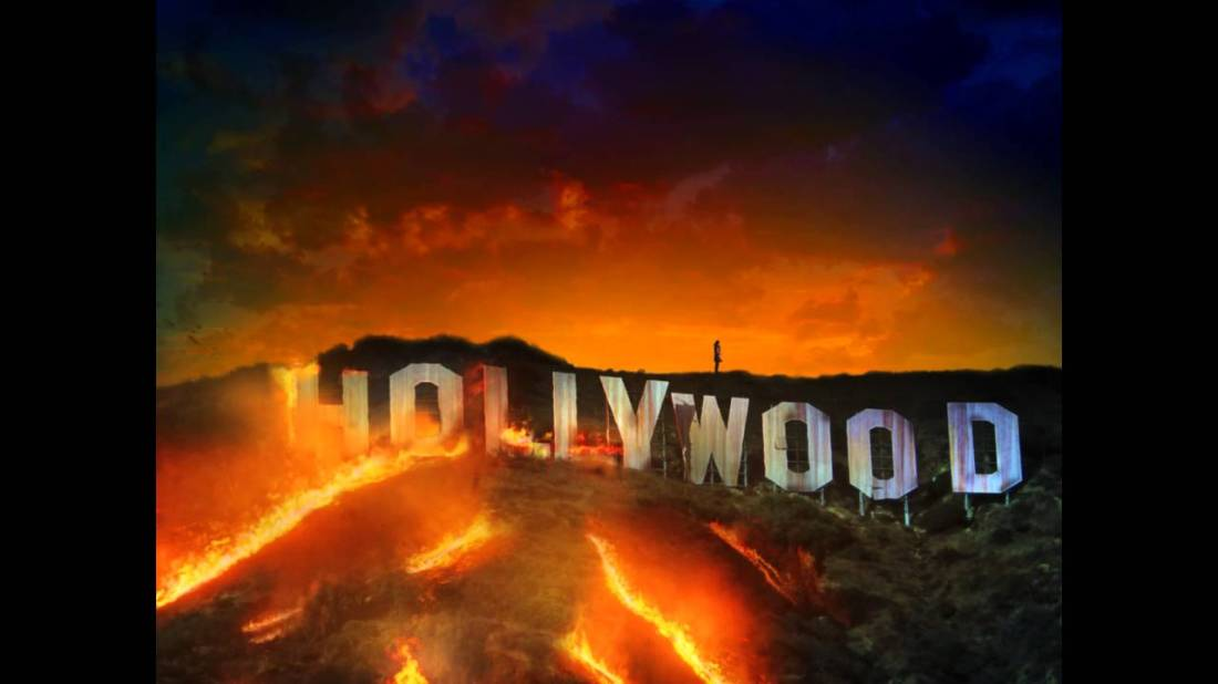Hollywood Sign On Fire