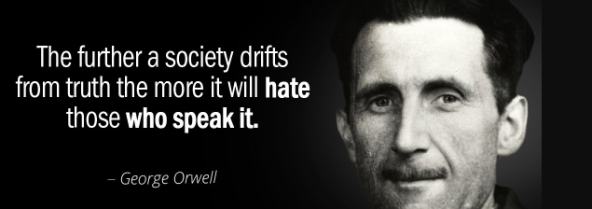 George Orwell society drifts