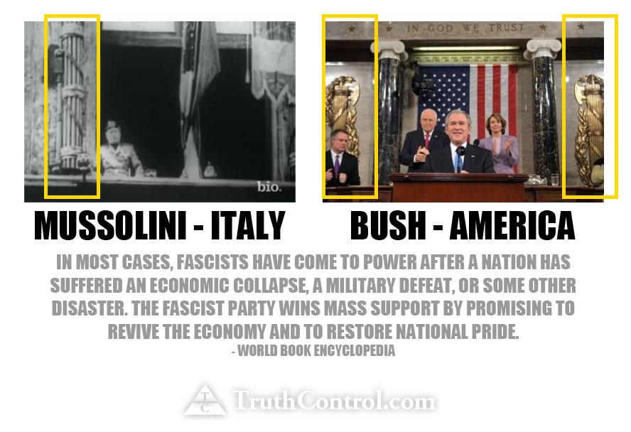 aaa bush america fashist