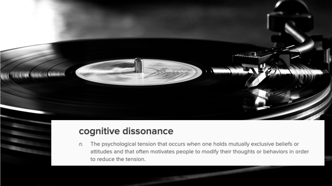 cognitive dissonance record vinyl yes black and white