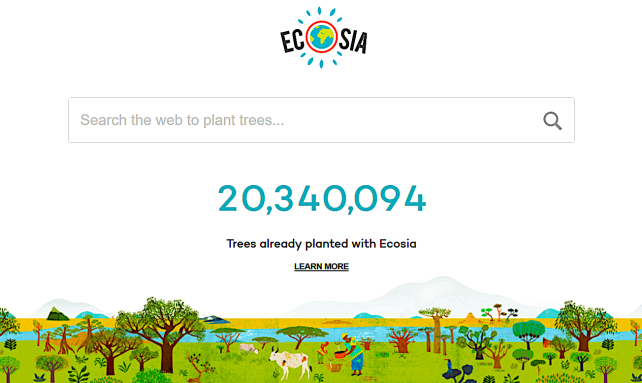 Ecosia 2019 front graphic