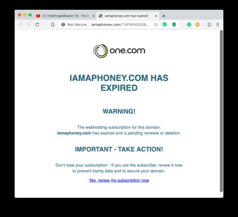 Iamaphoney has expired