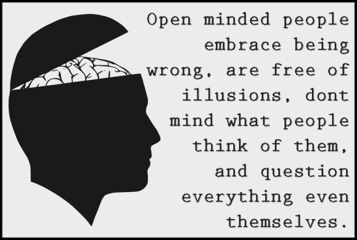 Open Minded People think