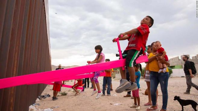 Seesaws-appear-at-the-US-Mexico-border