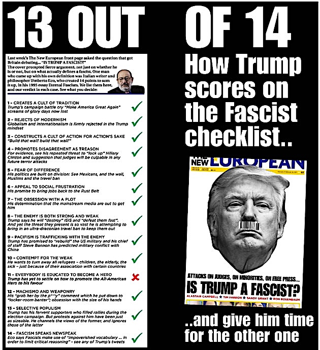 trump fashist