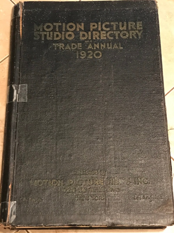 Motion Picture Studio Directory 1920