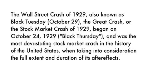stock market crash 1929 wow