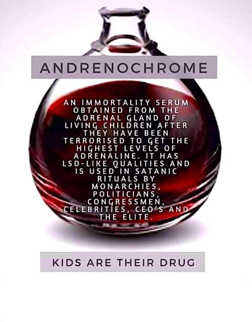 Adrenochrome Kids Are Their Drug RR Article May 2020