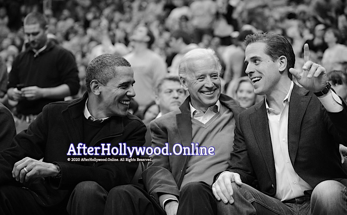 3 Obama Joe and Hunter Biden Happy Black and white-2