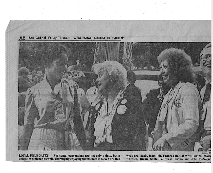 Rickie Santell Democratic Convention August 13 1980 open convention